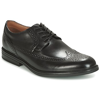 Shoes Men Derby Shoes Clarks Black Leather Black