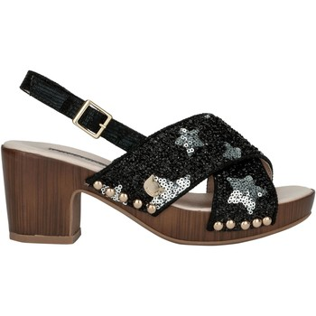 Shoes Women Sandals Lollipops Sequin star embroidered clogs BLACK