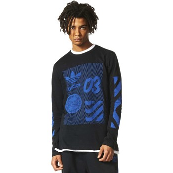 Clothing Men Long sleeved tee-shirts adidas Originals BJ9924 T-shirt Man Black Black
