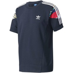 Clothing Men short-sleeved t-shirts adidas Originals BK7698 Sweatshirt Man Blue Blue