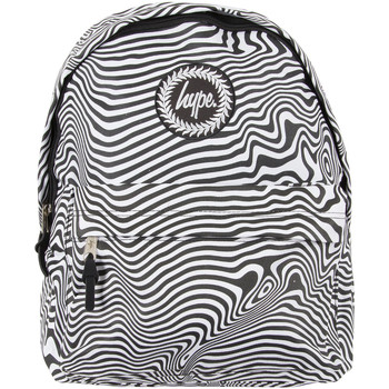 Bags Men Rucksacks Hype Men's Zebra Warp Logo Backpack, Black black