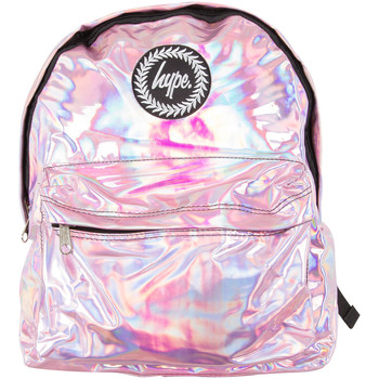 Bags Men Rucksacks Hype Men's Holographic Logo Backpack, Pink pink