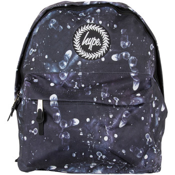 Bags Men Rucksacks Hype Men's Fingerprint Logo Backpack, Black black