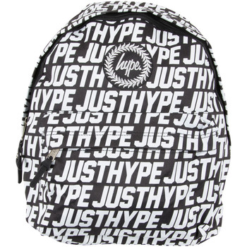 Bags Men Rucksacks Hype Men's Sporting Justhype All Over Logo Backpack, Black black