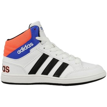 Shoes Children Hi top trainers adidas Originals Hoops Mid K Blue-Black-White