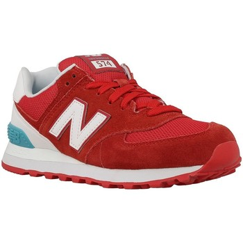 Shoes Women Low top trainers New Balance NBWL574CNCB090 Red-White