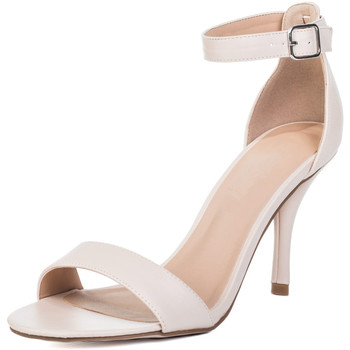Shoes Women Heels Spylovebuy SOPHIE Wide Fit High Heel Stiletto Strappy Sandals Shoes - Nude Pink