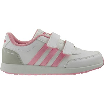 Shoes Children Low top trainers adidas Originals VS Switch 2 Cmf C Grey-Pink-White
