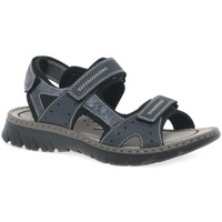 Shoes Men Sandals Rieker Chris Mens Casual Sandals blue