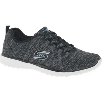 Shoes Women Low top trainers Skechers Microburst On The Edge Womens Sports Trainers black