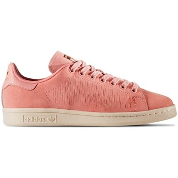 Shoes Women Low top trainers adidas Originals Stan Smith White-Pink