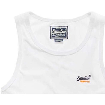 Clothing Men Tops / Sleeveless T-shirts Superdry M600300DS Canotta Man Bianco Bianco