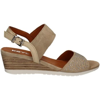 Shoes Women Sandals Keys 5277 Wedge sandals Women Beige Beige