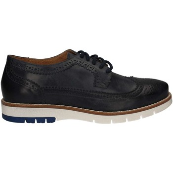 Shoes Men Brogues Keys 3046 Lace-up heels Man Blue Blue