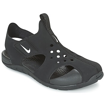 Shoes Children Sliders Nike SUNRAY PROTECT 2 CADET Black / White