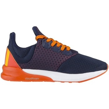 Shoes Children Low top trainers adidas Originals Falcon Elite 5 XJ White-Navy blue-Orange