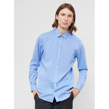 Clothing Men long-sleeved shirts Vito Solo Shirt Light Blue Blue