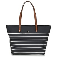 Bags Women Shopping Bags / Baskets Ralph Lauren BAINBRIDGE TOTE Black / White