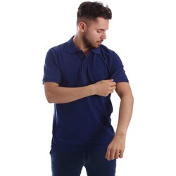 Clothing Men short-sleeved polo shirts Key Up 2800Q 0001 Polo Man Blue Blue
