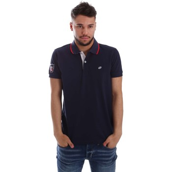 Clothing Men short-sleeved polo shirts Key Up 256QG 0001 Polo Man Blue Blue