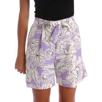 Clothing Women Shorts / Bermudas Y Not? 17PEY003 Shorts Women Violet Violet