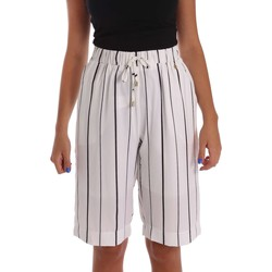Clothing Women Shorts / Bermudas Y Not? 17PEY027 Bermuda Women White White
