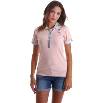 Clothing Women short-sleeved polo shirts Y Not? 17PEY060 Polo Women Pink Pink