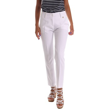 Clothing Women chinos Y Not? 17PEY112 Trousers Women White White