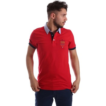 Clothing Men short-sleeved polo shirts Key Up 263RG 0001 Polo Man Red Red