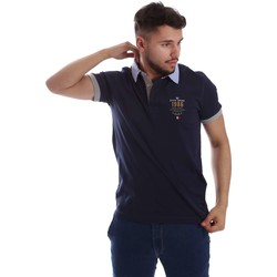 Clothing Men short-sleeved polo shirts Key Up 263RG 0001 Polo Man Blue Blue