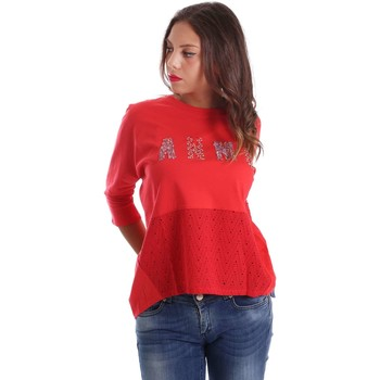 Clothing Women jumpers Animagemella 17PEA150 T-shirt Women Red Red