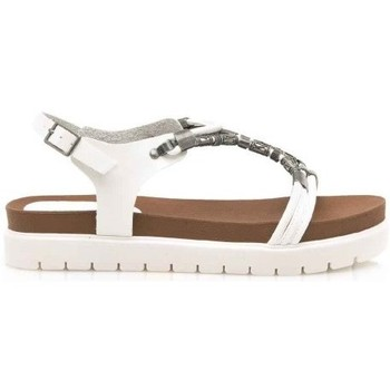 Shoes Women Sandals Mntg SANDALIA PLANA SINGER BLANCO