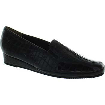 Shoes Women Heels Van Dal Rochester II Black Patent Croc