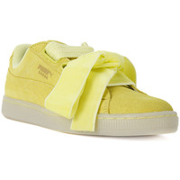 Shoes Women Low top trainers Puma BASKET HEART RESET Giallo