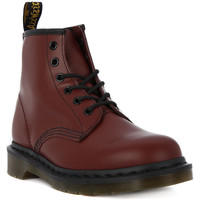 Shoes Women Mid boots Dr Martens 101 CHERRY SMOOTH Rosso