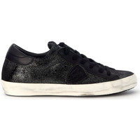 Shoes Low top trainers Philippe Model Paris Paris black leather sneaker Black