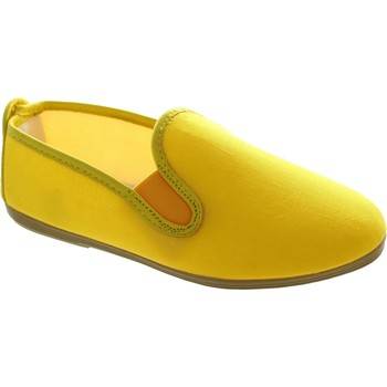 Shoes Women Slip ons Flossy Murcia Yellow Linen