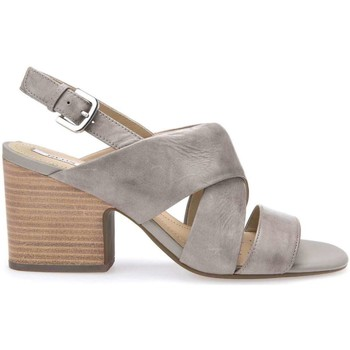 Shoes Women Sandals Geox D724UD 000LC High heeled sandals Women Grey Grey