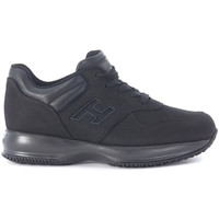 Shoes Low top trainers Hogan Interactive Sneaker in black nabuk Black