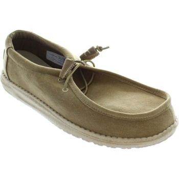 Shoes Men Boat shoes Hey Dude Wally Chestnut