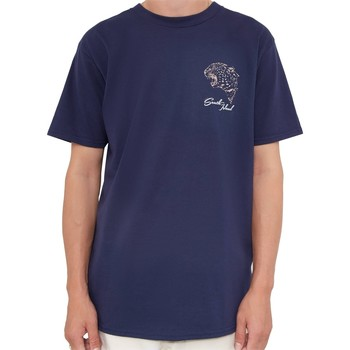 Clothing Men short-sleeved t-shirts The Idle Man South Island Skate T-Shirt Navy