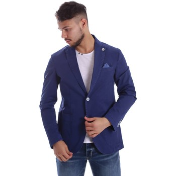Clothing Men Jackets / Blazers Sei3sei PZG8 7149 Blazer Man Blue Blue