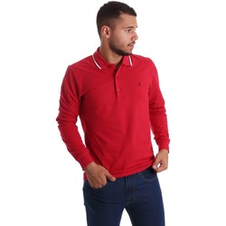 Clothing Men long-sleeved polo shirts Navigare NV82021 Polo Man Red Red