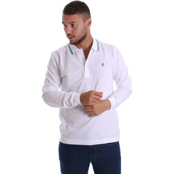 Clothing Men long-sleeved polo shirts Navigare NV82021 Polo Man White White