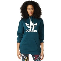 Clothing Women sweatpants adidas Originals Long Hoodie Turquoise