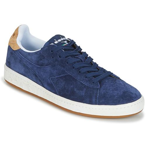 Shoes Men Low top trainers Diadora GAME LOW SUEDE Blue