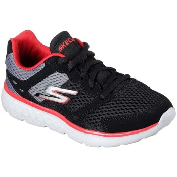 Shoes Boy Low top trainers Skechers GO Run 400 Lace Boys Sports Trainers black