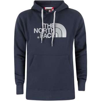 Clothing Men sweaters The North Face Men's Drew Peak Pullover Logo Hoodie, Blue blue