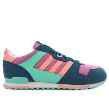 Shoes Children Low top trainers adidas Originals ZX 700 Navy blue-Pink