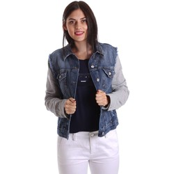 Clothing Women Denim jackets Liu Jo U17064D0219 Jacket Women Blue Blue